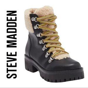 Steve Madden Aniko Faux Fur Lace-Up Women's Boots